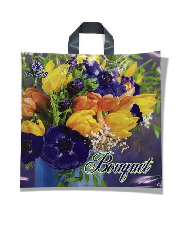 """Пакет с петлевой ручкой """"Bouquet"""" (38х34) 25 шт"""