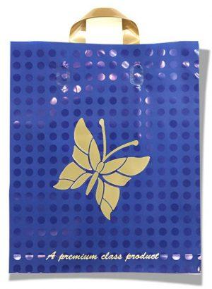 "Пакет с петлевой ручкой тип ""Serikoff"" ""Бабочка"" синий (30х35) 25 шт"