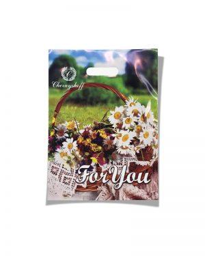 """Пакет с прорезной ручкой  """"For you"""" 2 (28х37) 50 шт"""