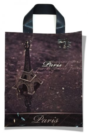 """Пакет с петлевой ручкой маленький ламинированный """"Paris"""" (23х29) 25 шт"""