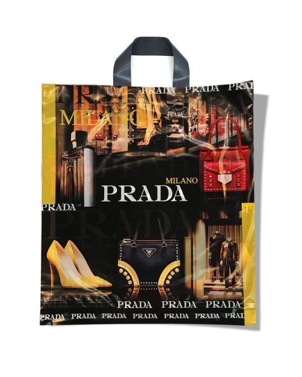 """Пакет с петлевой ручкой тип """"Диор"""" """"Prada"""" (37х43) 25 шт"""