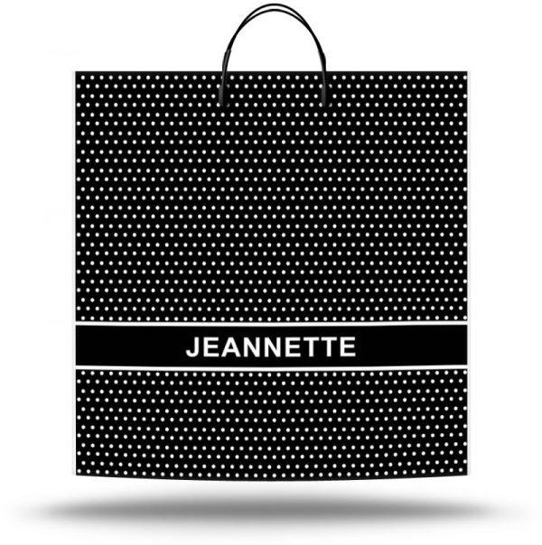 """Пакет на пластиковой ручке """"Jeannette"""" (36х37) 10 шт"""