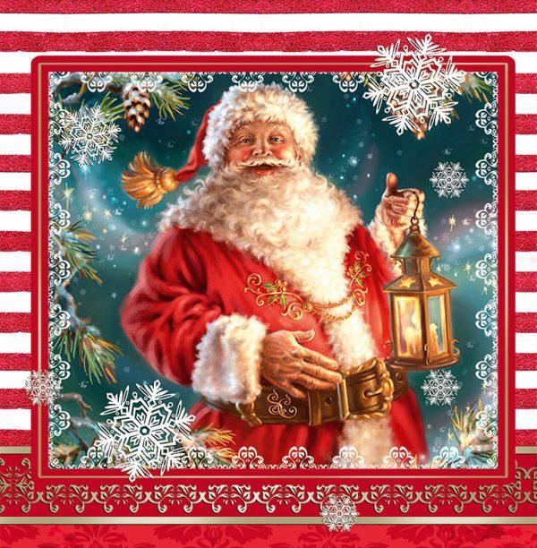 Подарочный пакет картонный «Квадрат» NGKV-013 (23х24х10) Санта Клаус
