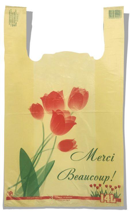 """Пакет-майка """"Тюльпан"""" Золотое Сечение желтый (28×45) 250 шт"""