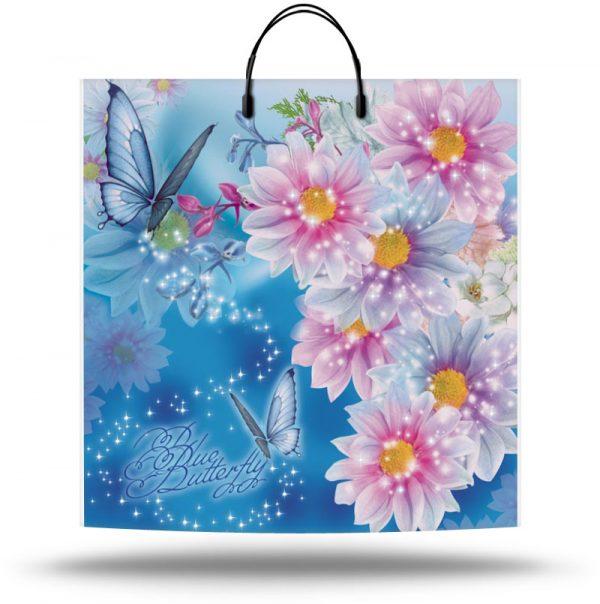 """Пакет на пластиковой ручке """"Голубая Бабочка"""" (36х37) 10 шт"""