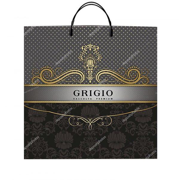 """Пакет на пластиковой ручке """"Grigio"""" (40х40) 10 шт"""