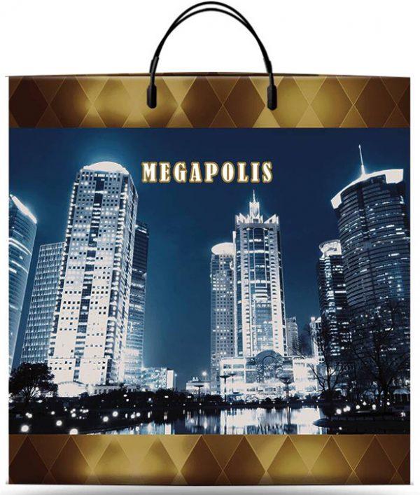 """Пакет на пластиковой ручке """"Megapolis"""" (36х37) 10 шт"""