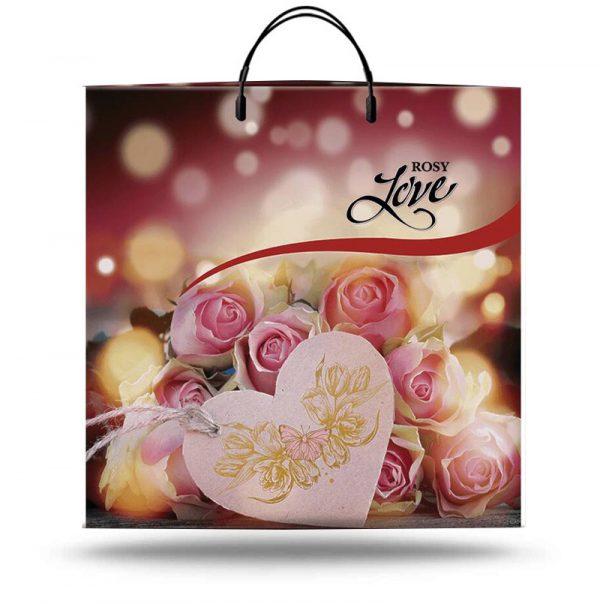 """Пакет на пластиковой ручке """"Rosy Love"""" (40х40) 10 шт"""