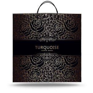 """Пакет на пластиковой ручке """"Turquoise"""" (40х40) 10 шт"""