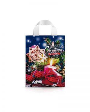 """Пакет с петлевой ручкой маленький ламинированный """"Merry Christmas 1"""" (23х29) 25 шт"""