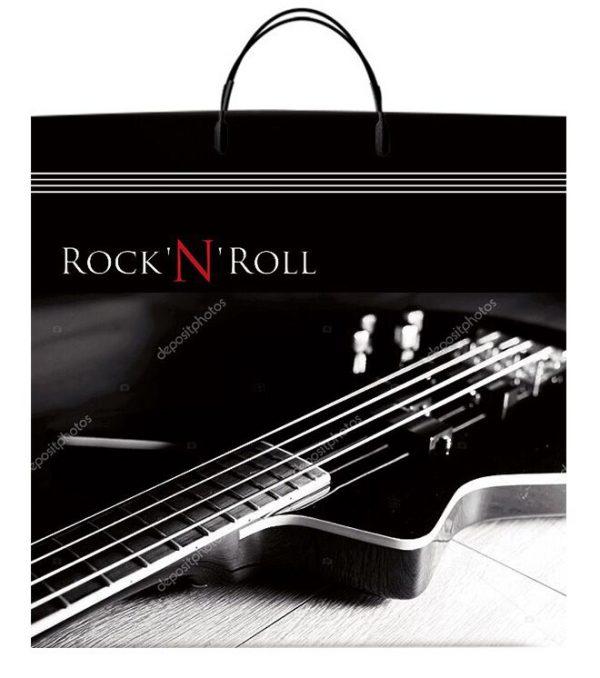 "Пакет на пластиковой ручке ""Rock N Roll"" (40х40) 10 шт"