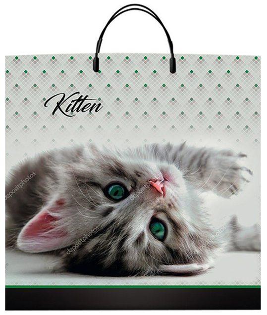 """Пакет на пластиковой ручке """"Kitten"""" (36х37) 10 шт"""