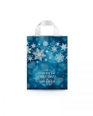 """Пакет с петлевой ручкой маленький ламинированный """"Merry Christmas 3"""" (23х29) 25 шт"""