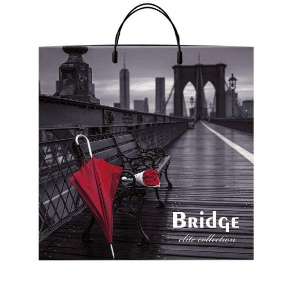 """Пакет на пластиковой ручке """"Bridge"""" (40х40) 10 шт"""