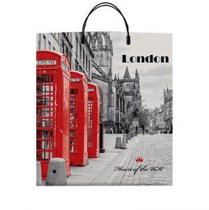 "Пакет на пластиковой ручке ""London"" (40х45) 10 шт"