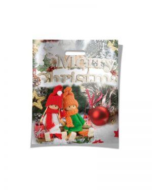 """Пакет с прорезной ручкой """"Merry Christmas"""" (40х50) 25 шт"""