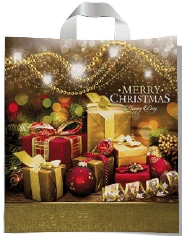 """Пакет с петлевой ручкой тип """"Диор"""" """"Merry Christmas!"""" (37х43) 25 шт"""