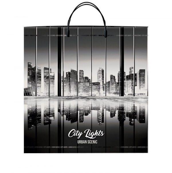 """Пакет на пластиковой ручке """"City Lights"""" (40х45) 10 шт"""