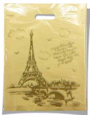 Пакет с прорезной ручкой тип мини «Париж» (20*30) 100 шт