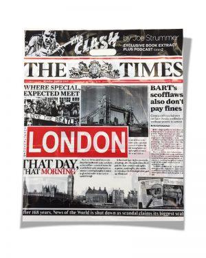 Пакет с прорезной ручкой «London» (49*55) 25 шт
