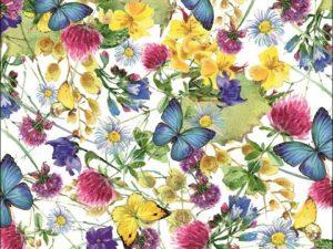 """Бумага Подарочная 29 """"Цветы и бабочки"""" (70х100)"""