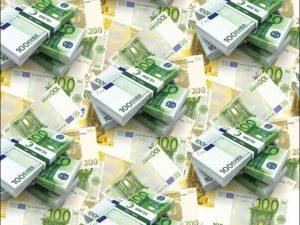 """Бумага Подарочная 34 """"Деньги Евро"""" (70х100)"""