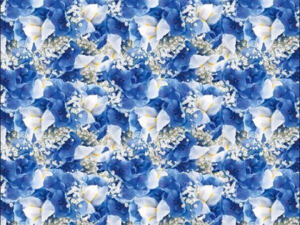 """Бумага Подарочная 40 """"Цветы голубые"""" (70х100)"""