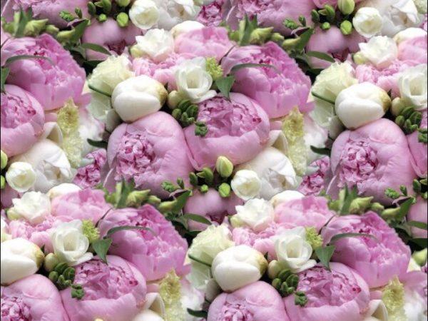 """Бумага Подарочная 42 """"Цветы Розово-белые"""" (70х100)"""