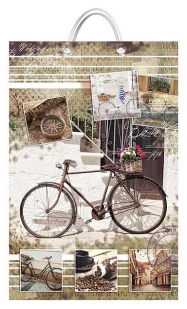 """Подарочный пакет картонный """"БОЛЬШОЙ ВЕРТИКАЛЬНЫЙ"""" 08 """"Велосипед"""" (25х37х8)"""