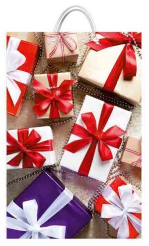 """Подарочный пакет картонный """"БОЛЬШОЙ ВЕРТИКАЛЬНЫЙ"""" 07 """"Подарки"""" (25х37х8)"""