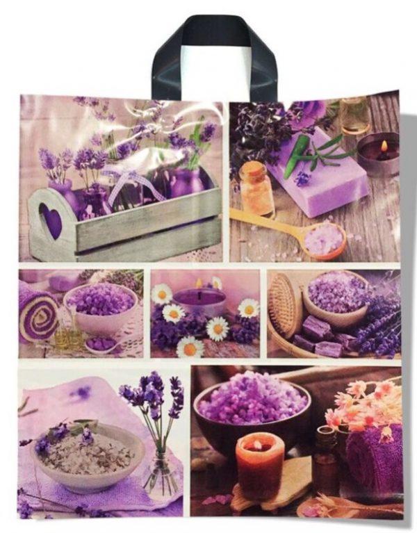 Пакет с петлевой ручкой средний «Violets» (40*45) 25 шт.