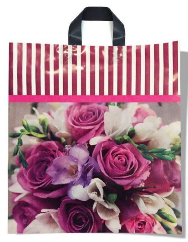 Пакет с петлевой ручкой средний «Roses» (40*45) 25 шт.