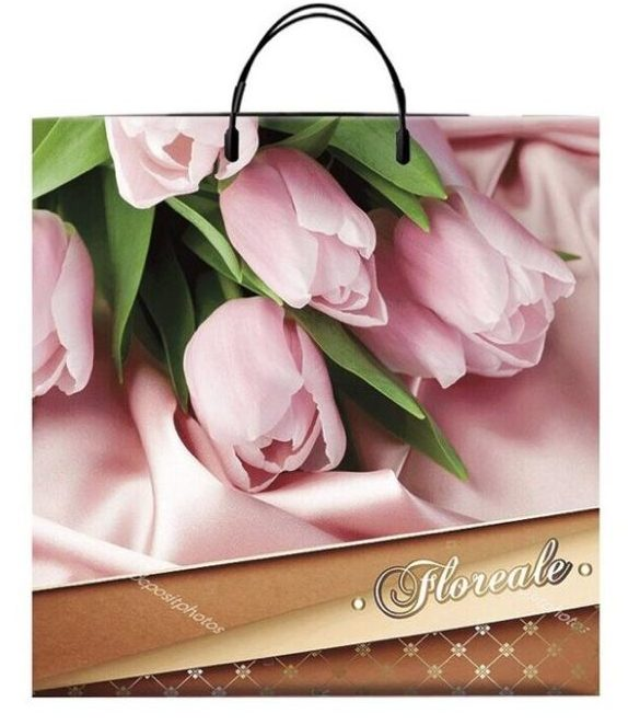 Пакет на пластиковой ручке «Floreale» (40*40) 10 шт.