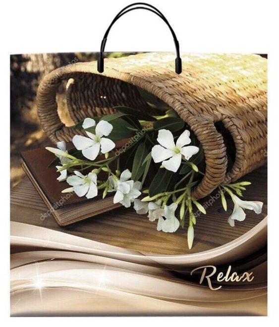 Пакет на пластиковой ручке «Relax» (40*40) 10 шт.