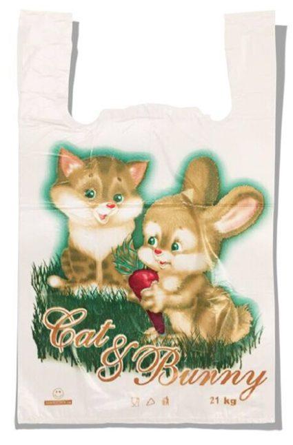 Пакет-майка «Котёнок и Зайчик» (29*46) 250 шт