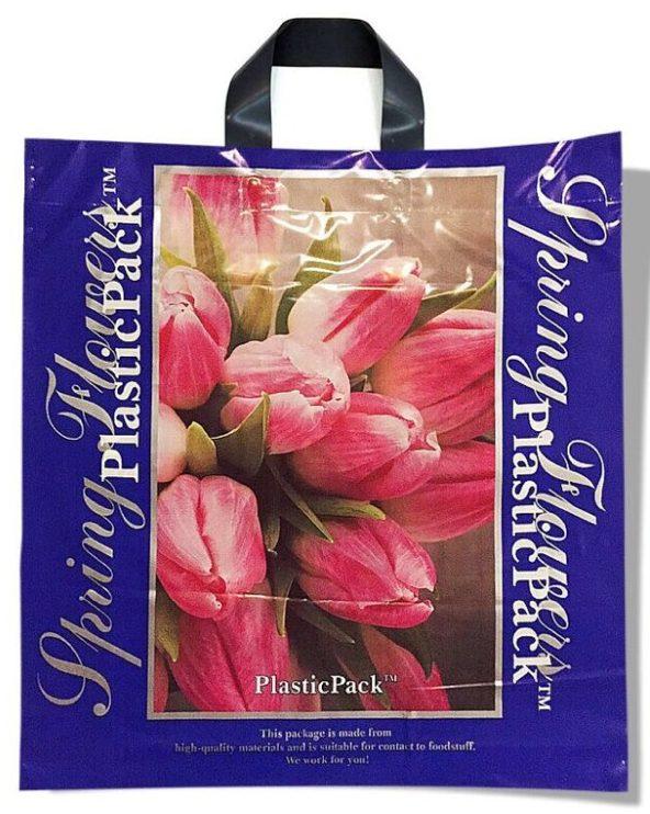 Пакет с петлевой ручкой тип «Наксан» «Spring Flowers» (46*48) 25 шт