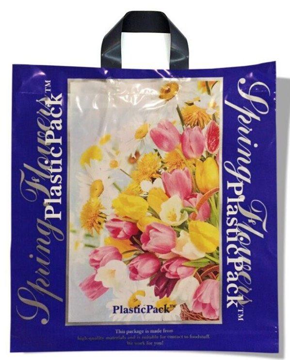 Пакет с петлевой ручкой тип «Наксан» «Spring Flowers-2» (46*48) 25 шт
