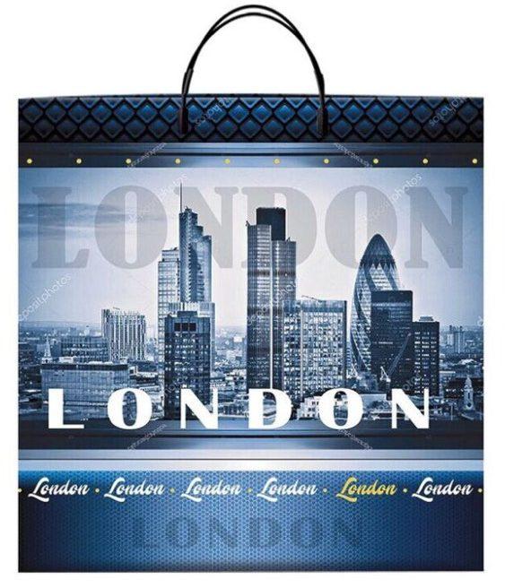 Пакет на пластиковой ручке «London» (40*40) 10 шт.