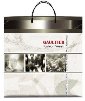 Пакет на пластиковой ручке «Gaultier» (40*40) 10 шт.