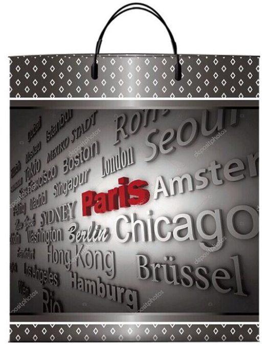 Пакет на пластиковой ручке «Paris» (40*45) 10 шт.