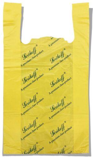 Пакет-майка «Serikoff» большой жёлтый плотный (50*89) 50 шт.