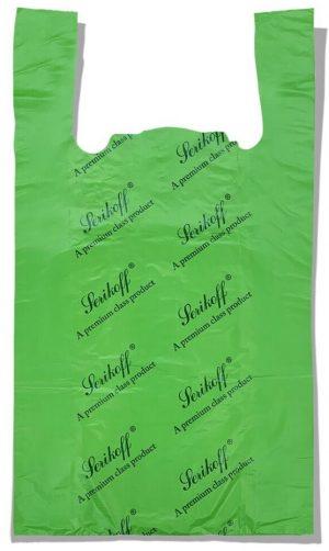 Пакет-майка «Serikoff» большой зелёный плотный (50*89) 50 шт.