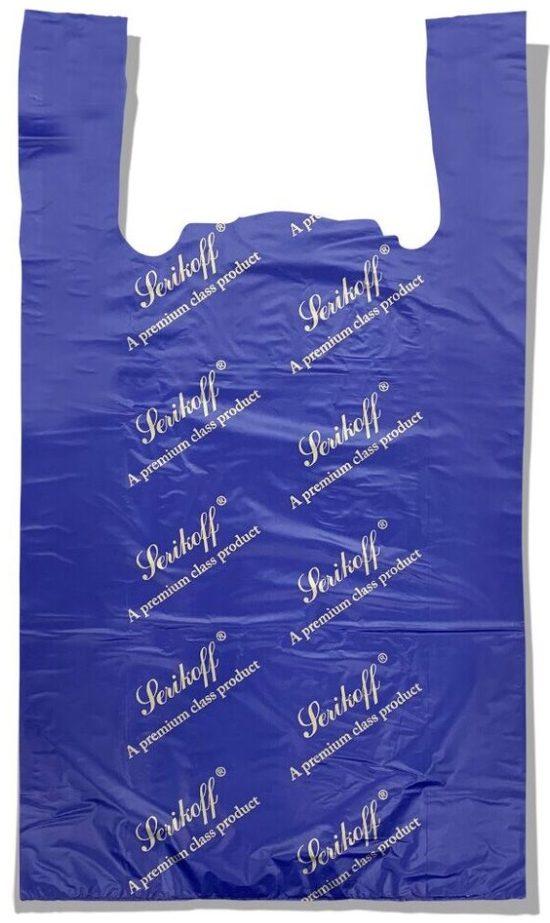 Пакет-майка «Serikoff» большой синий плотный (50*89) 50 шт.