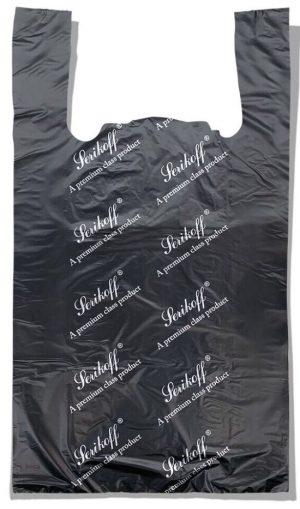 Пакет-майка «Serikoff» большой чёрный плотный (50*89) 50 шт.