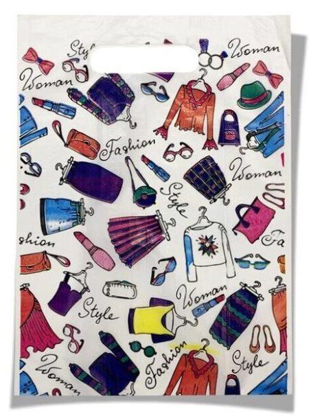 Пакет с прорезной ручкой тип мини «Fashion» (20*30) 100 шт.