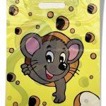 Пакет с прорезной ручкой детский «Мышонок» (30*40) 50 шт.