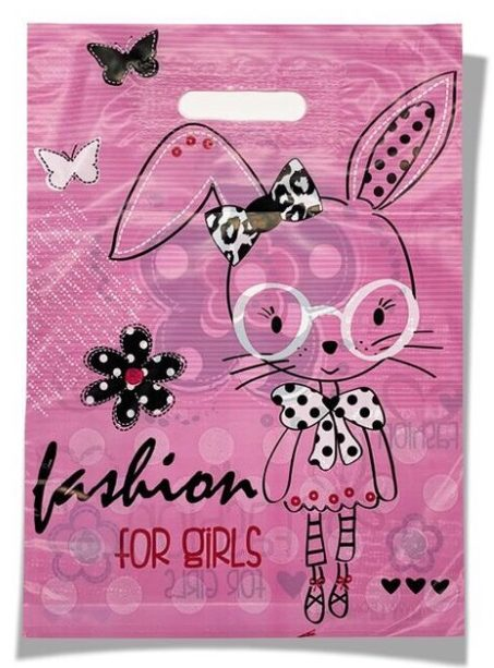 Пакет с прорезной ручкой детский «Для девочек» (30*40) 50 шт.