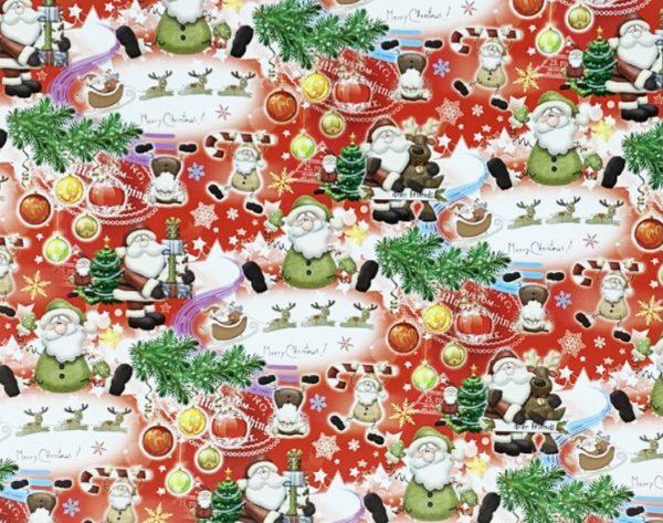 "Бумага Подарочная новогодняя 07 ""Санта Клаус"" (70х100)"