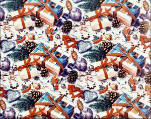 """Бумага Подарочная новогодняя 12 """"Новогодние игрушки и подарки"""" (70х100)"""