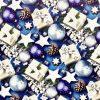 """Бумага Подарочная новогодняя 08 """"Елочная игрушка синяя"""" (70х100)"""